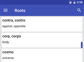 Root Words App