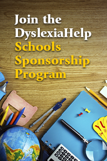 Join the DyslexiaHelp Schools Sponsorship Program