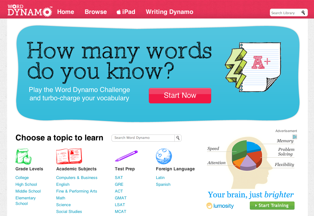 Word Dynamo: Learning Resources for Any Age