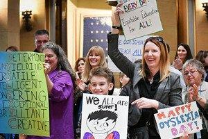 Dyslexia Day Rally in Minnesota